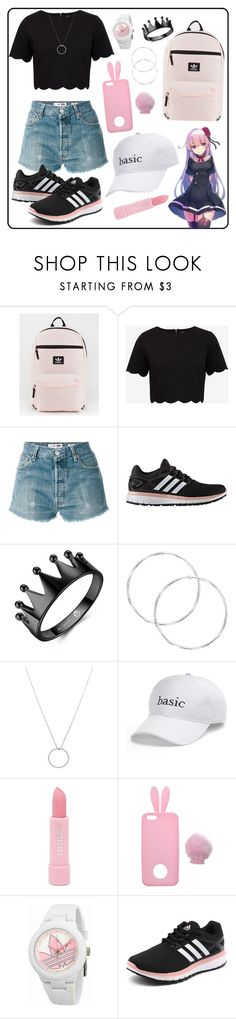 """""""untitled #2"""" by karla-jhoana ❤ liked on Polyvore featuring adidas, Ted Baker, RE/DONE, Roberto Coin, SO, Forever 21 and Miss Selfridge"""
