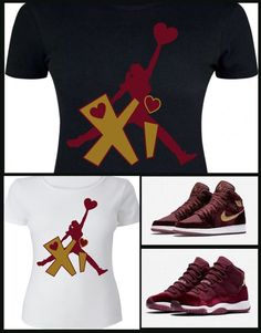 d8142c94e25c Details about LADIES   WOMENS TEE SHIRT to match the NIKE JORDAN 1   11  HEIRESS MAROON VELVETS