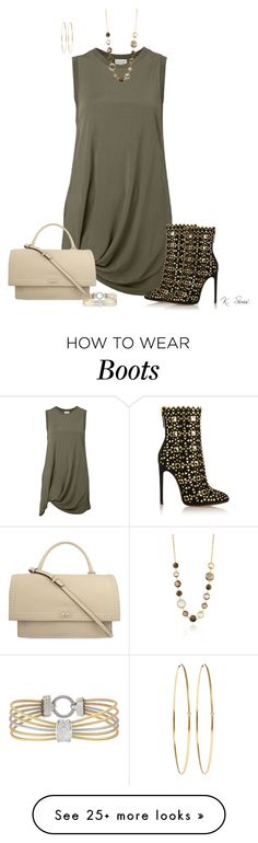 """""""It's a top, but...."""" by ksims-1 on Polyvore featuring Witchery, Alaïa, Givenchy, PIARA by Elaine J, Jennifer Meyer Jewelry and Alor"""