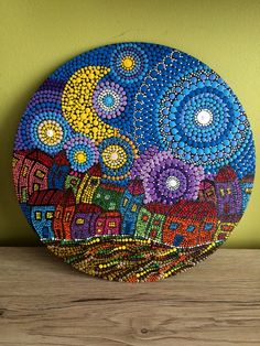 Dot Art Painting, Stone Painting, Mandala Dots, Mandala Design, Mandala Art Lesson, Art Lessons, Painted Rocks, Eye, Crafts