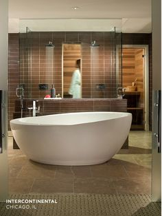 Waterworks bath at the InterContinental Chicago Magnificent Mile