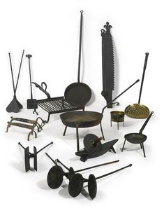 An Assorted Group of Wrought and Cast Iron Cooking Implements, America and Europe, 18th and 19th centuries | Lot | Sotheby's; Estimate   5,000 — 7,000  USD  LOT SOLD. 3,750 USD