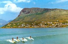 Photograph of Surfers in the 1960's at Fish Hoek beach, Cape Town, South Africa…