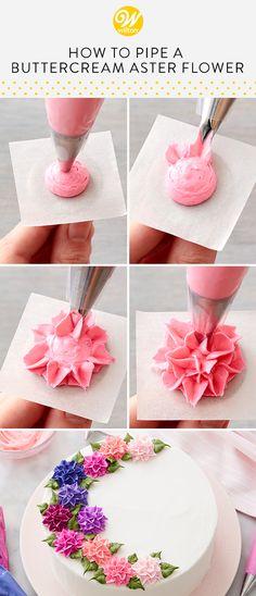 Frosting Flowers, Buttercream Flower Cake, Cake Icing, Fondant Cakes, Cupcake Cakes, Cupcakes, Cupcake Frosting, Cake Decorating Piping, Cookie Decorating