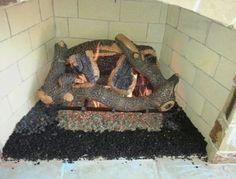 Golden Blountu0027s Charred Hollow Oak Gas Logs Enjoy Your Outdoor Room   Yard  Art Patio U0026 Fireplace