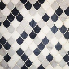 Beautiful scalloped tiles.