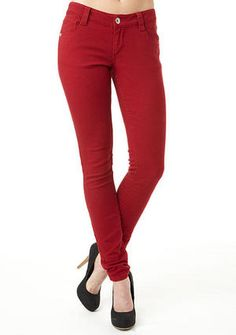 Paris Blues Colored Skinny Jean red valentines day