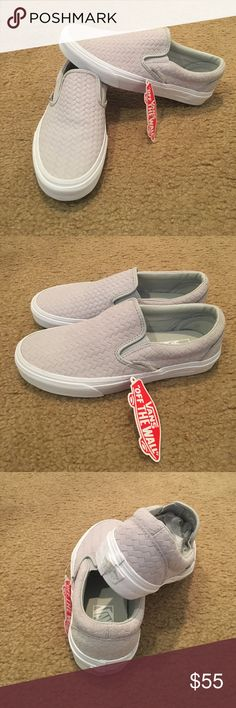 1711d3e113 Vans Embossed Weave Classic Slip Ons New with tags.