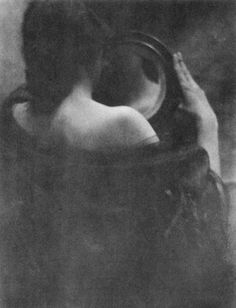 The mirror (by Edward Steichen, Edward Jean Steichen (March 1879 – March was an American photographer, painter, and art gallery and museum curator. Edward Steichen, Alfred Stieglitz, Vintage Photography, Fine Art Photography, Mirror Photography, Photography Women, Photography Ideas, Yennefer Of Vengerberg, Night Pictures
