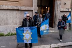 Event in Rome to celebrate the Jewish Brigade Group on the occasion of the April 25 the 72nd anniversary of the liberation of Rome of the Nazi-fascism, in front the building where the Jewish Brigade had its seat during the liberation of Rome in Via Cesare Balbo. The Jewish Community of Rome, did not attend the event by the National Association of Italian Partisans (ANPI) for the presence of Palestinian associations and militants on April 25, 2017 in Rome, Italy. Italy's Liberation Day…