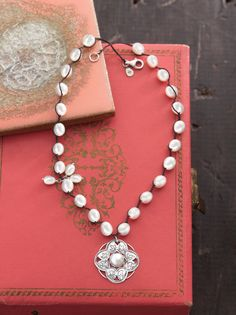 Rhyannon Necklace // How magically medieval is this look?  Pearl, Sterling Silver Silpada Jewelry