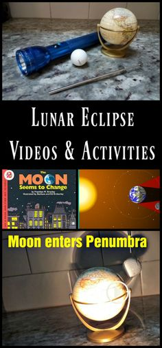 Astronomy Lunar eclipse videos for kids and hands-on science activity to show stages of an eclipse Moon Activities, Preschool Science Activities, Space Activities, Activities For Kids, Activity Ideas, Learning Activities, Solar Lunar, Solar And Lunar Eclipse, Science For Toddlers
