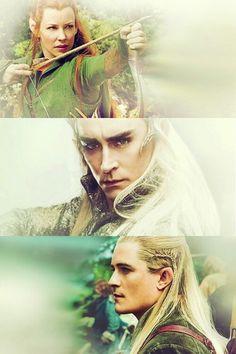 The Hobbit: Thranduil - Legolas - Tauriel - the-hobbit Fan Art