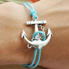 Bracelet-Anchor bracelet-vintage anchor bracelet