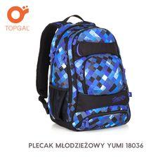 Dwukomorowy plecak Topgal młodzieżowy z mnóstwem kieszeni