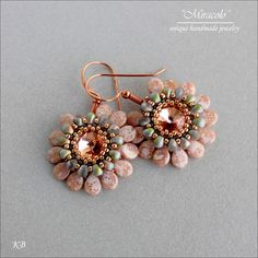 Prom Earrings - 10mm Rivoli, 15/0 seed bead, drop & pip bead earrings.  Charming!!!