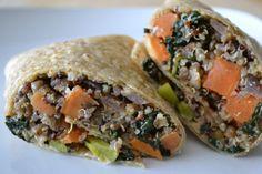 Kale, Sweet Potato & Quinoa Breakfast Burritos