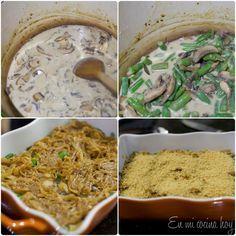Gratín de porotos verdes y champiñones - En Mi Cocina Hoy Hummus, Green Beans, Mexican, Healthy Recipes, Healthy Food, Cooking, Ethnic Recipes, Singular, Husband