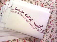 awesome envelope addressing..we ♥ this! moncheribridals.com