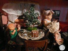 antike Weihnachtsbäume für die Puppenstube