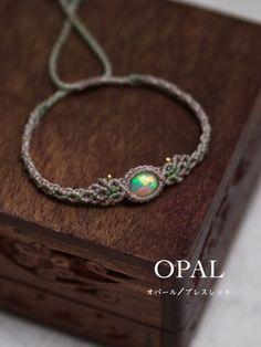 Macrame braided bracelet opal (Mexican) STONES SPIRIT Stones Spirit natural stone × macrame shop accessories