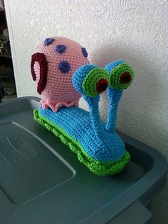 Gary The Snail From Spongebob Crochet Pattern (pay $5.36)