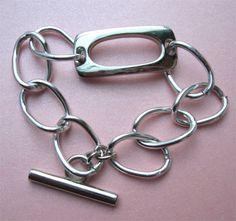 LARGE CHAIN BRACELET.  Such a cool vintage look. $12.00.  http://www.etsy.com/listing/125458117/large-chain-bracelet?#