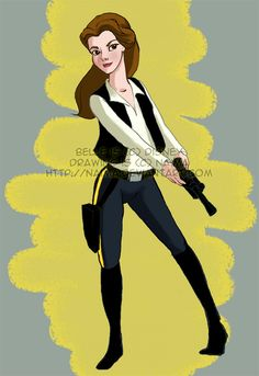 Star Wars belle, this is awesome