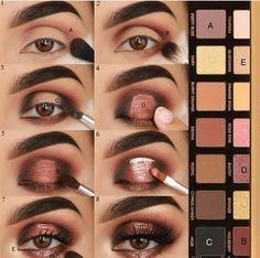 60 Easy Eye Makeup Tutorial For Beginners Step By Step Ideas(Eyebrow& Eyeshadow) Make-up is a Prom Eye Makeup, Eye Makeup Steps, Simple Eye Makeup, Eyeshadow Makeup, Natural Makeup, Makeup Glowy, Drugstore Makeup, Sephora Makeup, Eyeshadows