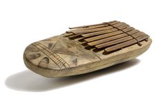 Lamellaphone (thumb piano) from Nigeria which dates from 1900 – 1917 and is from the Charles Partridge Collection, World Collection, Ipswich. This is a very widespread form of musical instrument in Africa, often played by itself for personal pleasure as well as in groups of musicians.