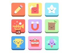 Flat iOS icon design - from dribble Flat Design Icons, Ui Design, Icon Design, Graphic Design, Ios Icon, Grid Game, Pictogram, Minimal Design, Badges