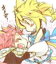 Natsu and Lucy chibi
