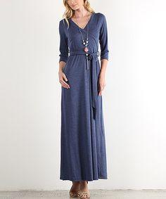 Love this J-Mode USA Los Angeles Denim Blue Maxi Wrap Dress - Plus Too by J-Mode USA Los Angeles on #zulily! #zulilyfinds