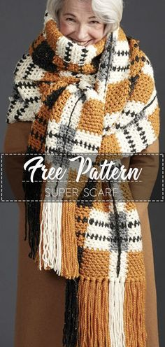 Ideas crochet scarf shawl free pattern beautiful for 2019 Crochet Shawl Free, Crochet Cardigan, Crochet Scarves, Easy Crochet, Crochet Clothes, Crochet Hats, Knitting Scarves, Diy Crochet Scarf, Diy Scarf