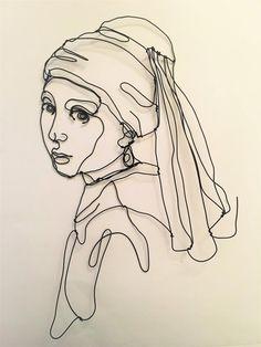 Sculpture Tattoo, Sculpture Art, Johannes Vermeer, Inspiration Art, Art Inspo, Matisse Tattoo, Arte Van Gogh, L'art Du Portrait, Aesthetic Drawing