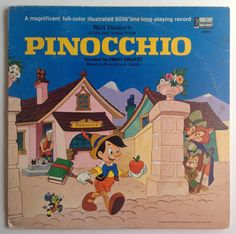 1969 Pinocchio LP - Walt Disney's Story And Songs - Vinyl Record -Disneyland Record 3905 - Children's Vintage Toys - Kid's Toy // by TheOakBarnCollection First Animation, Animation Film, Walt Disney Story, Puff The Magic Dragon, Fantasy Films, Vintage Vinyl Records, Recorded Books, Original Song, Lp Vinyl