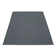 Pappelina - Svea Teppich, 140 x 220 cm, granit / black metallic Granitgrau T:140 H:0 B:220