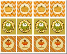 free printable fall gift tags cupcake toppers print frugal cheap gift ideas