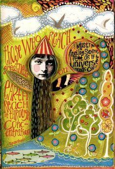 Teesha Moore, art journals. always love her stuff