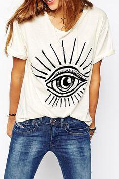 Eye Print Short Sleeve T-Shirt