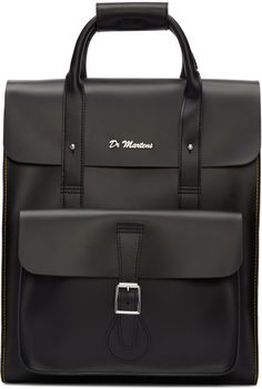Dr. Martens Black Leather Backpack