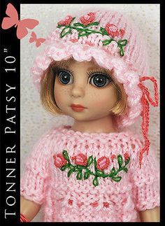 """Summer Pink Rose Outfit for Tonner Patsy Ann Estelle 10"""" by Maggie & Kate Create"""