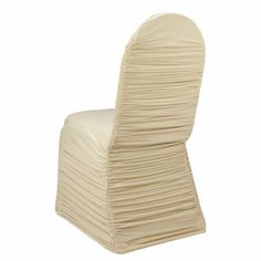 Gold Ruched Banquet Chair Cover by Chair Covers & Linens