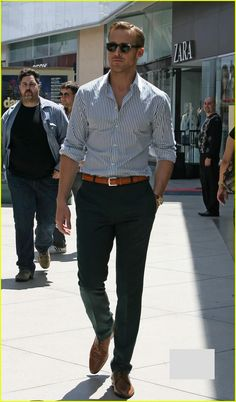 Why can't every man dress like this? So well put together. I'm sick of guys' pants below their asses.