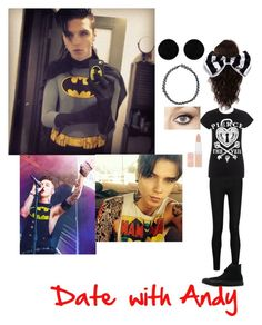 """""""Date with Andy"""" by mychemical5sosromance ❤ liked on Polyvore featuring AeraVida, Donna Karan, Converse, WigYouUp, Boohoo, Charlotte Tilbury and Rimmel"""