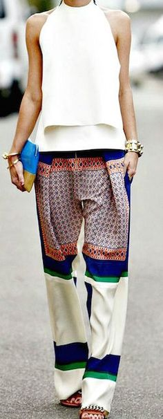 Cosa indossare ad un party in giardino - pantaloni #womanfashion #trousers