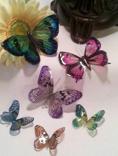 Faux Glass 3D Butterfly Embellishment. Hmm could I do this with vellum and glossy accents, may have to test it out.