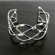 Silver Plated Infinity Cuff Bracelet - pagan wiccan witchcraft magick ritual supplies