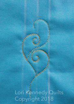 How to Quilt a Vine Motif, Lori Kennedy