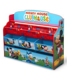 Look at this Mickey Mouse Deluxe Book & Toy Organizer on #zulily today!
